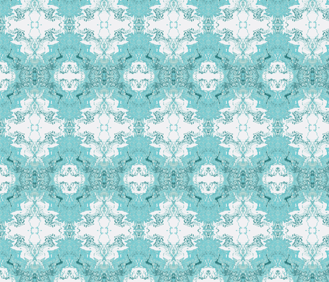 Aqua Abstract fabric by bettieblue_designs on Spoonflower - custom fabric