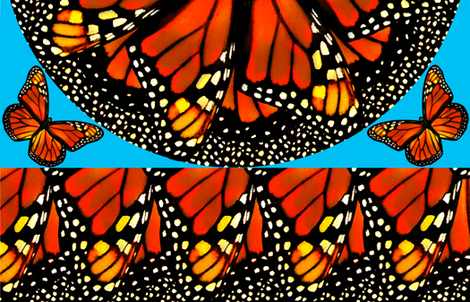 Monarch Skirt -adult size fabric by bjornonsaturday on Spoonflower - custom fabric
