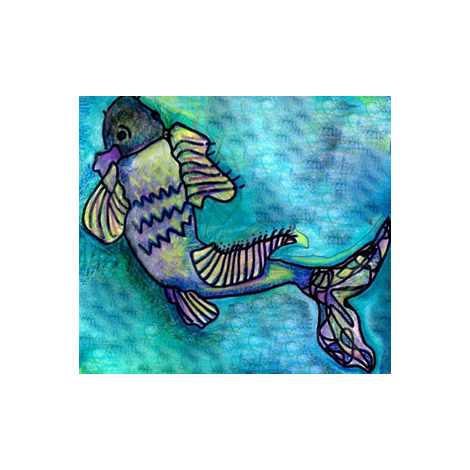 Springtime Fish fabric by amyvail on Spoonflower - custom fabric