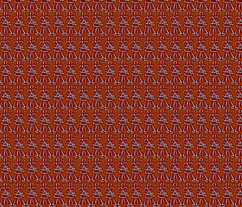 martial_arts_whiteonbrown-hdr fabric by dsa_designs on Spoonflower - custom fabric