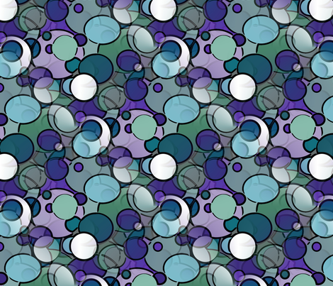 Geometric Spheres in Cool Colors - Large fabric by jenniferbenbry on Spoonflower - custom fabric