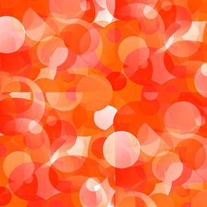 Geometric Spheres in Warm Colors - Large