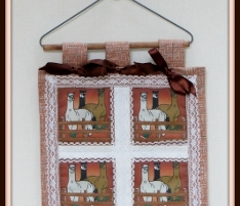 Alpacas Trio Ornaments Animal Fabric