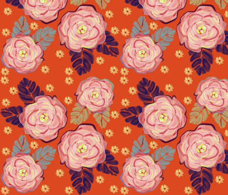 Life is Rosey fabric by alyssaray on Spoonflower - custom fabric