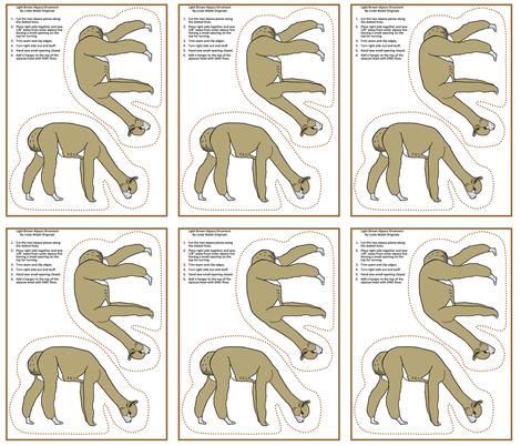 Light Brown Alpaca Grazing Cut and Sew fabric by lworiginals on Spoonflower - custom fabric