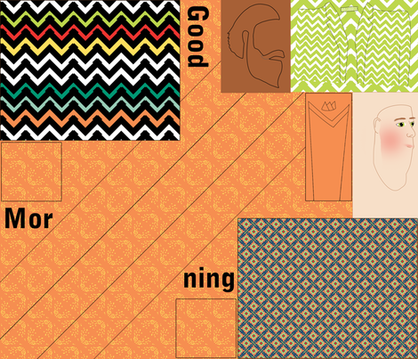 Mug Rug Fat Quarter Kit fabric by shannon-mccoy on Spoonflower - custom fabric