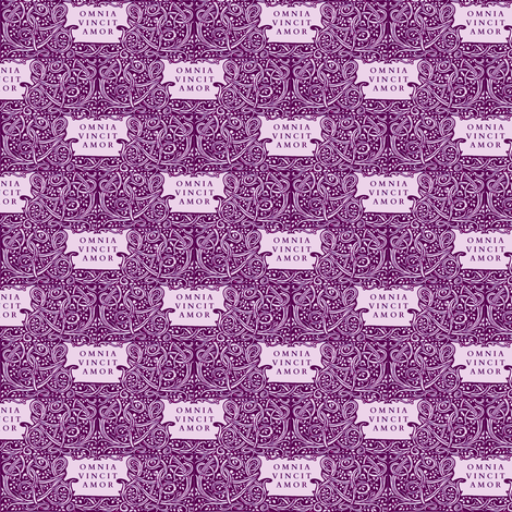 Love Conquers All Violet fabric by amyvail on Spoonflower - custom fabric