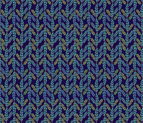 Folksy Foliage  fabric by alyssaray on Spoonflower - custom fabric