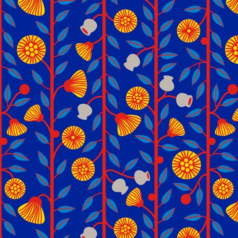 Gumnuts & Flowers Sml fabric by yellowstudio on Spoonflower - custom fabric
