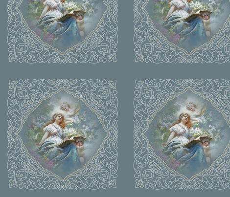 Muse_of_Poesie_panel fabric by butterflyme on Spoonflower - custom fabric
