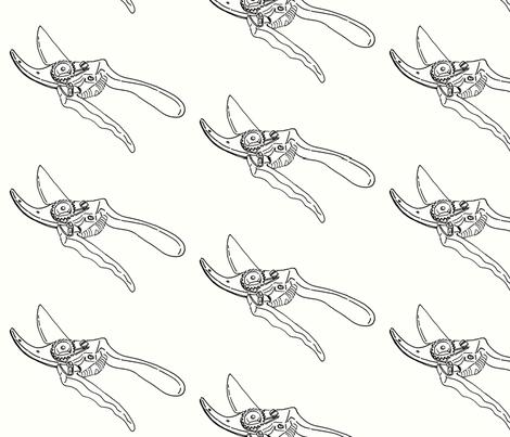 secateurs sketch fabric by saartje on Spoonflower - custom fabric