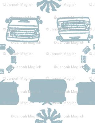 typewriter_stripe_4_objects_lightblue