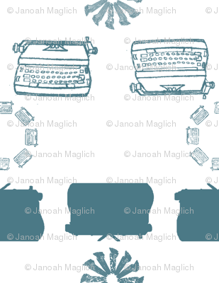 typewriter_stripe_4_objects_teal
