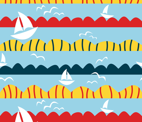 Sailing fabric by yellowstudio on Spoonflower - custom fabric