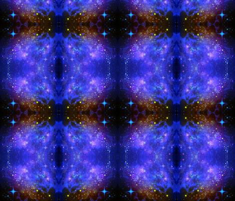 Iris Star Galaxy  fabric by hrhsf-designs on Spoonflower - custom fabric