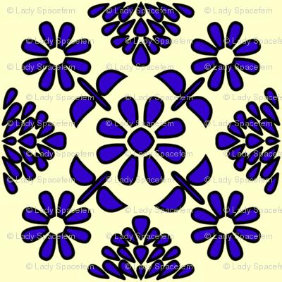 Spanish tiles Art Deco flowers