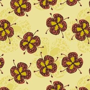 Kijani Manjano Flutter Flower Texture