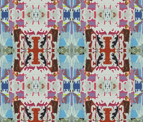 Torn Posters in Metro, 1 fabric by susaninparis on Spoonflower - custom fabric