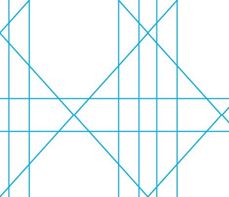 blue Geometric large  fabric by bettieblue_designs on Spoonflower - custom fabric
