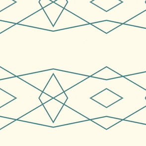 Teal on Cream Geometric