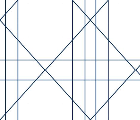 Navy Blue Geometric large fabric by bettieblue_designs on Spoonflower - custom fabric