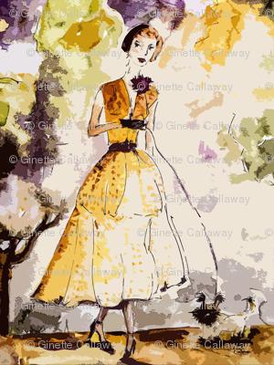 Parisienne Vintage Fashion Femme