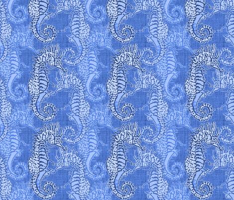 Seahorse Ocean  fabric by joanmclemore on Spoonflower - custom fabric