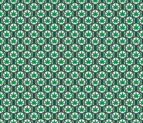 Small Hemp Leaf Design fabric by shala on Spoonflower - custom fabric