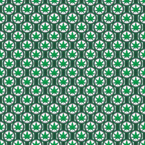 Small Hemp Leaf Design 300 fabric by shala on Spoonflower - custom fabric