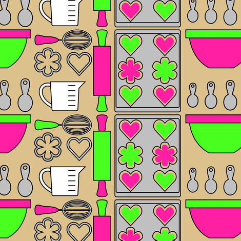 Baking Cookies fabric by shala on Spoonflower - custom fabric