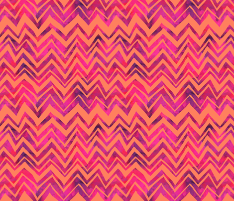 Heidi Chevron Orange fabric by schatzibrown on Spoonflower - custom fabric