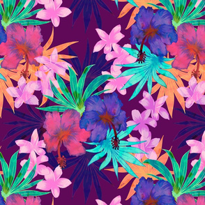 Heidi Tropical Floral Purple
