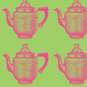 Coffeepot - Pink and Green