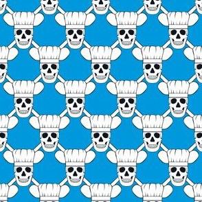 Chef Skull Small- Blue