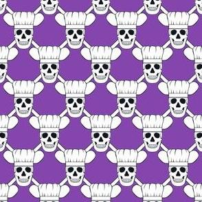 Chef Skull Small- Purple