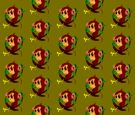 Monkey fabric by retroretro on Spoonflower - custom fabric