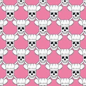 Chef Skull Small-Pink