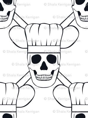 Chef Skull Small-White