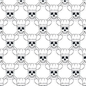 Chef Skull Small-White