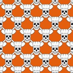 Chef Skull Small-Orange