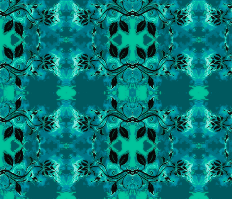 Abstract19-teal/black fabric by guylas_coastal_creations on Spoonflower - custom fabric
