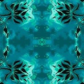 Abstract19-teal/black