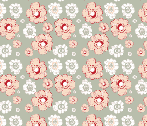 French Country Bouquet fabric by karenharveycox on Spoonflower - custom fabric