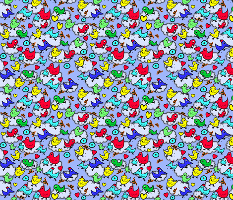 James Rizzi Chickens fabric by shannon-mccoy on Spoonflower - custom fabric