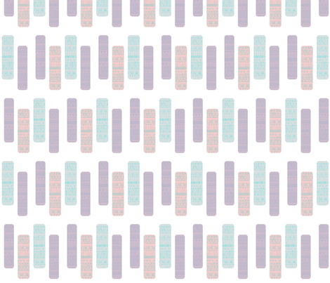 Pastel Aztec Tribal Patterns fabric by lisa_guen_design on Spoonflower - custom fabric