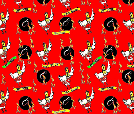 BBQ Chicken fabric by dk_designs on Spoonflower - custom fabric