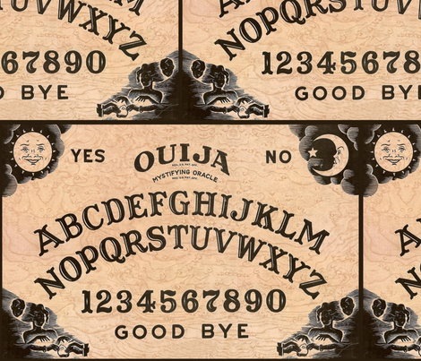 Ouija fabric by dr_frybrain on Spoonflower - custom fabric