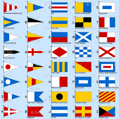 nautical signalling flags