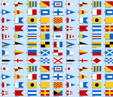 nautical signalling flags fabric by sef on Spoonflower - custom fabric