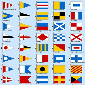 01958929 : nautical signalling flags